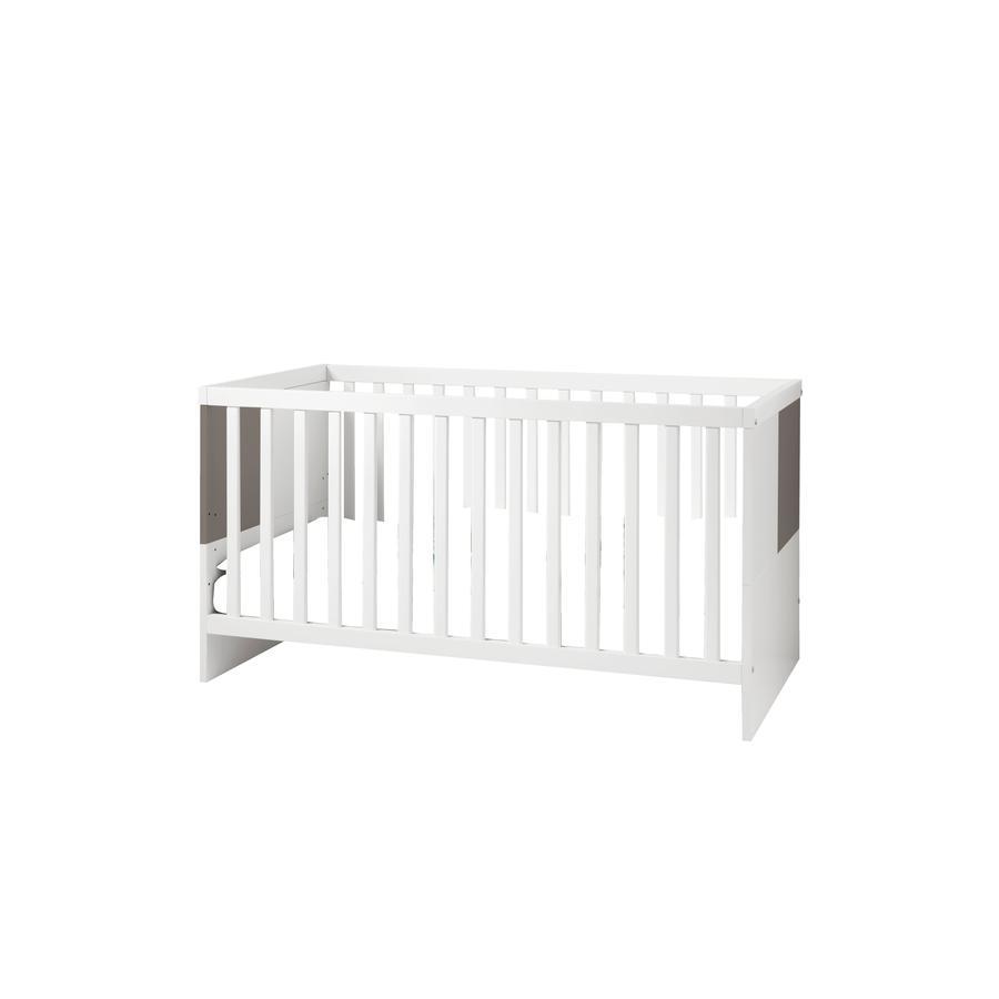 WELLEMÖBEL Kinderbett Luna weiß / lava Hochglanz - babymarkt.de