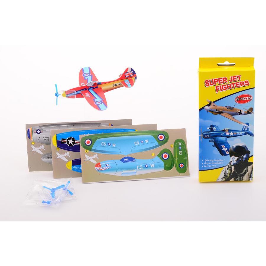 JOHNTOY EVA Vliegtuigjes - 4 stuks