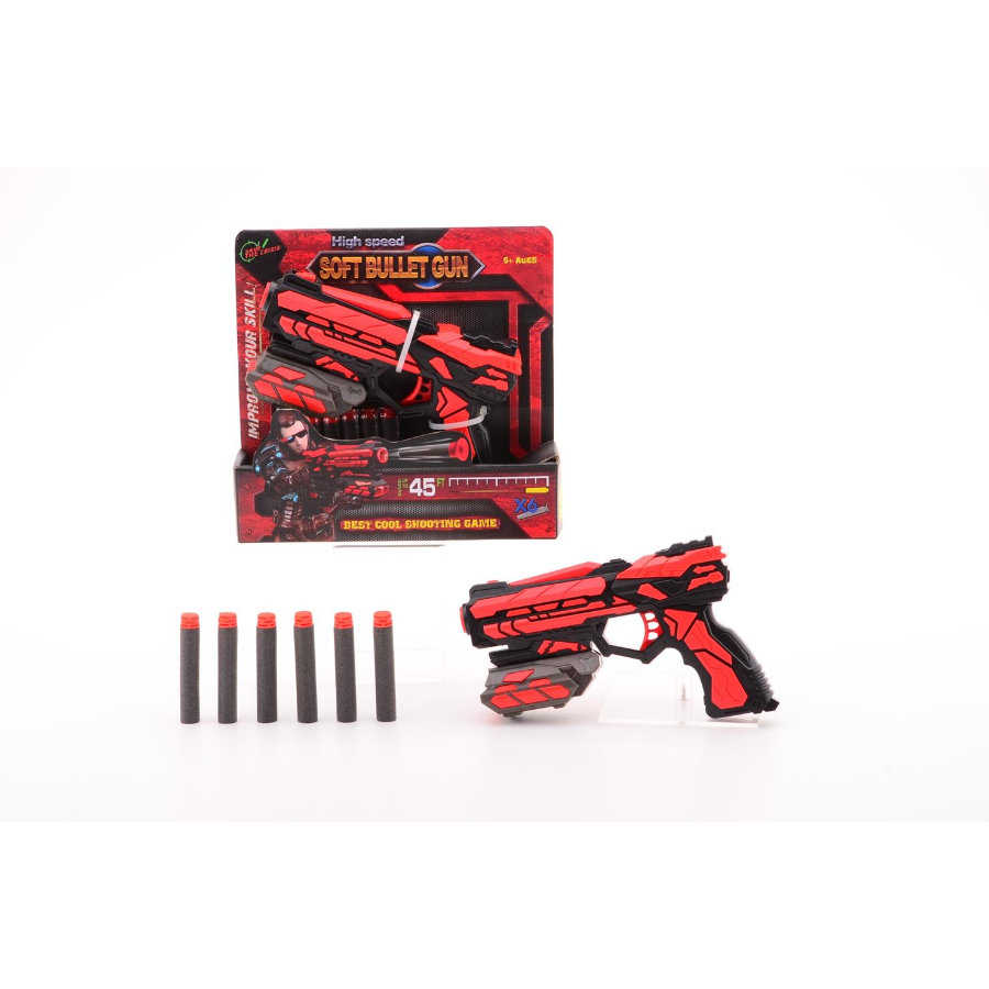JOHNTOY Serve & Protect Shooter Starter 18 cm mit 6 Darts