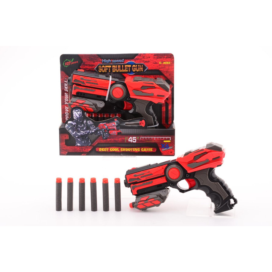 JOHNTOY Serve & Protect Shooter Basic 23 cm mit 6 Darts