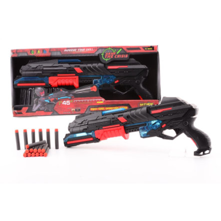 JOHNTOY Serve & Protect Shooter Large 50 cm mit Licht und 10 Darts