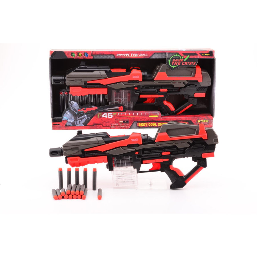 JOHNTOY Serve & Protect Shooter Mega 54 cm mit 10 Darts