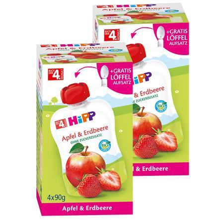 HiPP Früchte Apfel und Erdbeere 8 x 90 g im Quetschbeutel