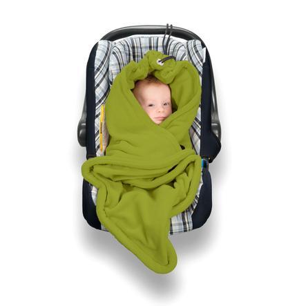 Hoppediz Fleecová zavinovací deka zelená
