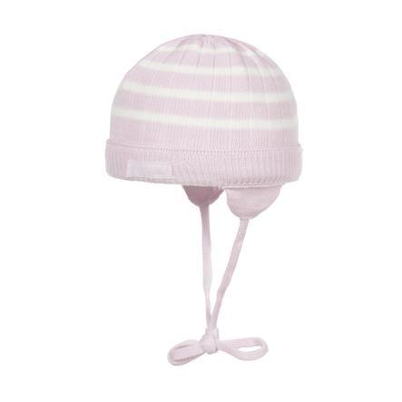 Döll Girl s gorra de punto rayas rosa/blanco