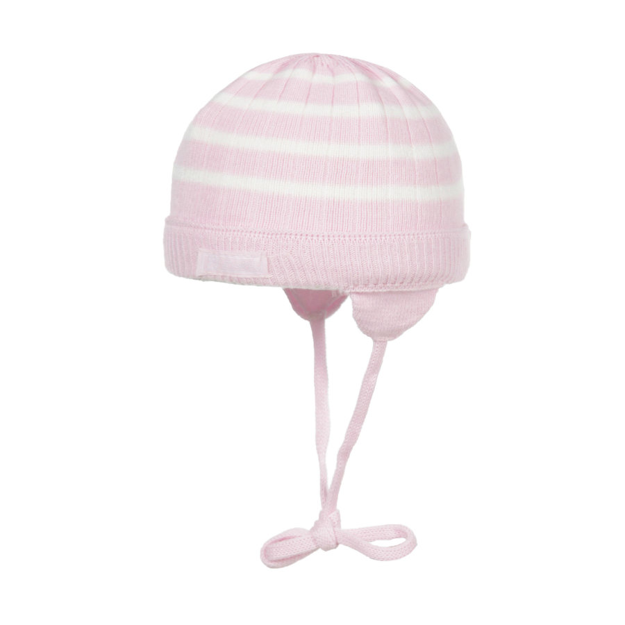 Döll Girls Strikket hue striber pink/hvid