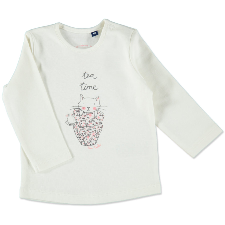 TOM TAILOR Girls Longsleeve soft clear white