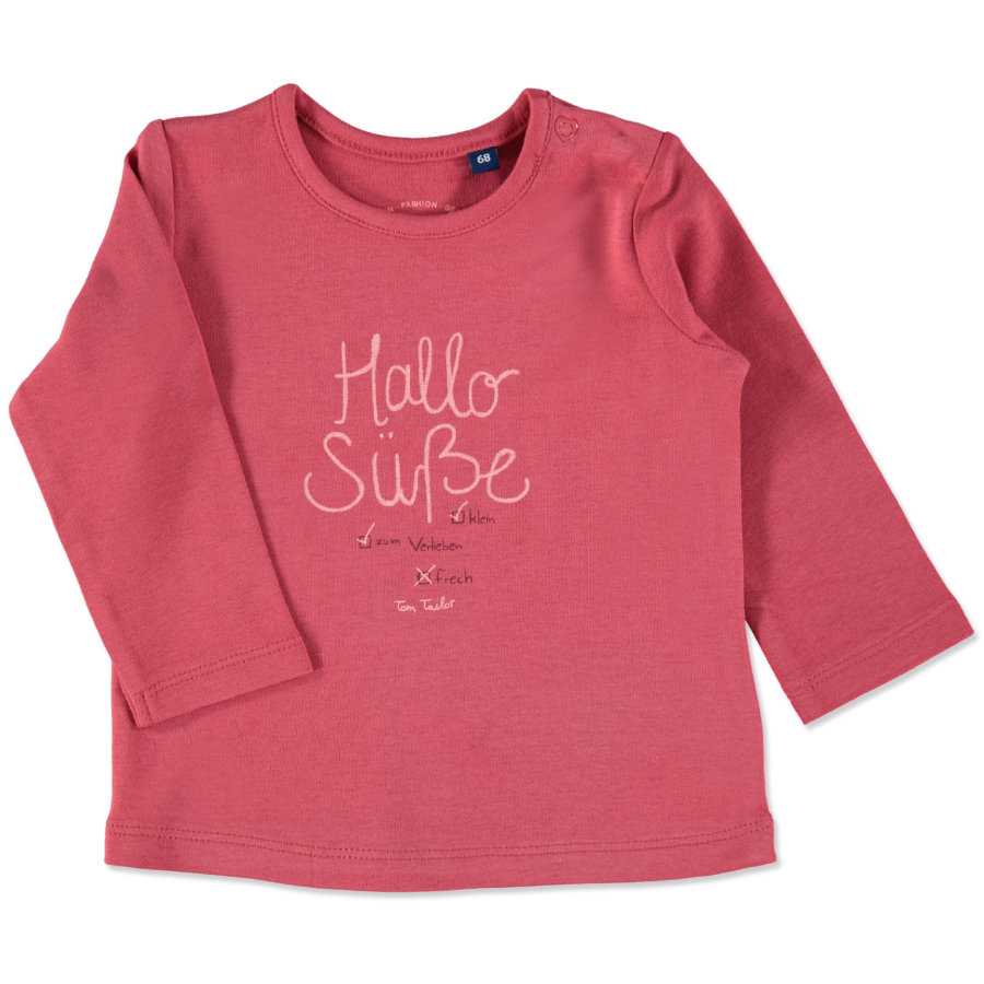 TOM TAILOR Girls Longsleeve berry red