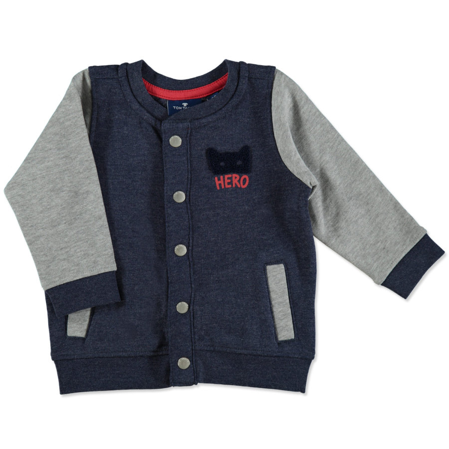 TOM TAILOR Boys Sweatjacke medium grey melange