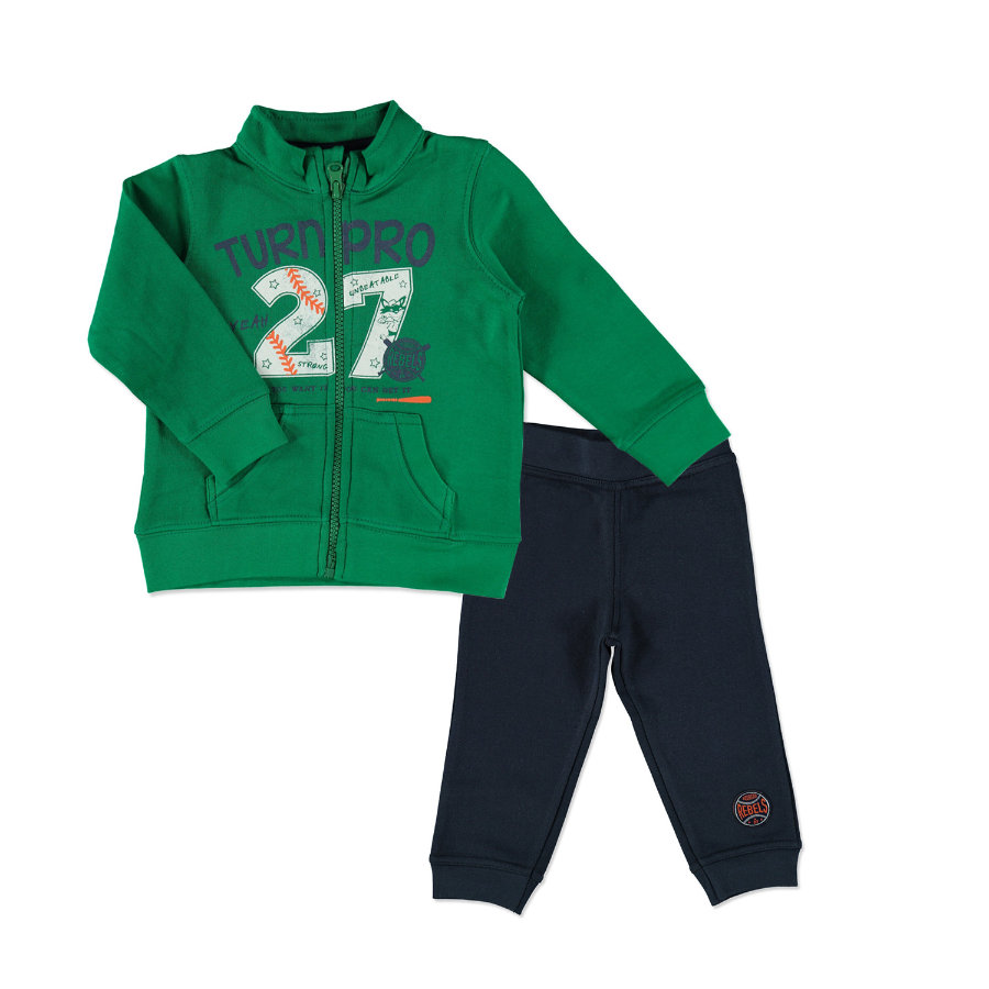 BLUE SEVEN Boys Sweat-Set grün