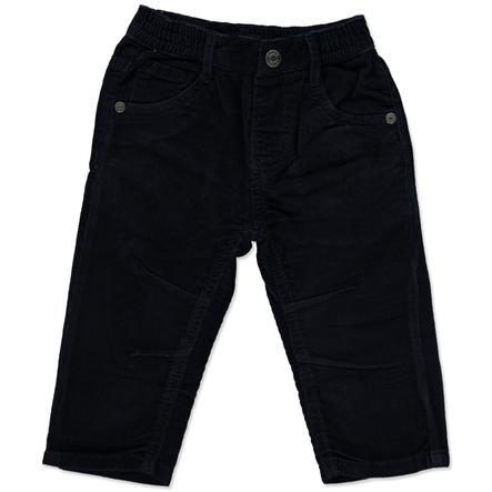 BLUE SEVEN Boys Delikatne spodnie sztruksowe, ciemnoniebieskie.