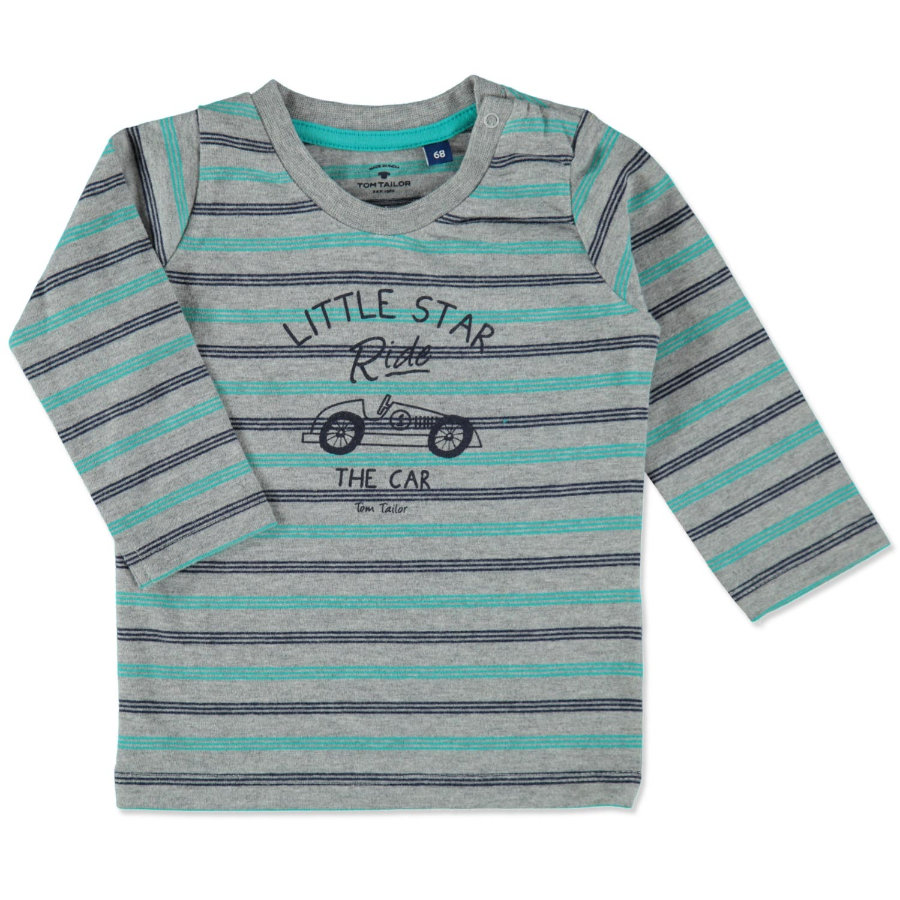 TOM TAILOR Boys Longsleeve medium grey melange