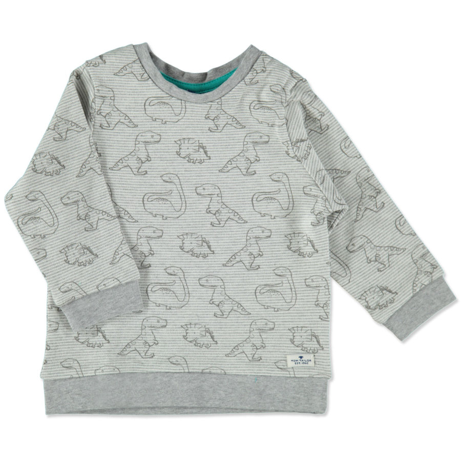 TOM TAILOR Boys Sweatshirt mediudm grey melange