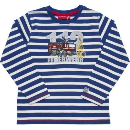 SALT AND PEPPER Boys Longsleeve Firefighter stripe ultramarin