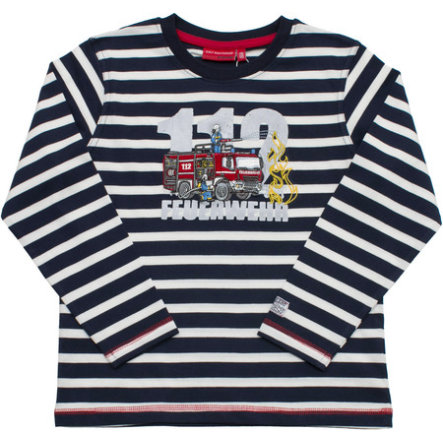 SALT AND PEPPER Boys Longsleeve Firefighter stripe cobalt