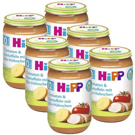 HiPP Tomaten und Kartoffeln mit Bio-Hühnchen 6 x 220 g