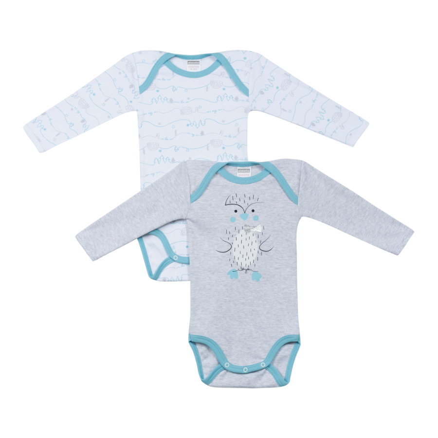 absorba Boys Bodies 2-er Pack grau melange