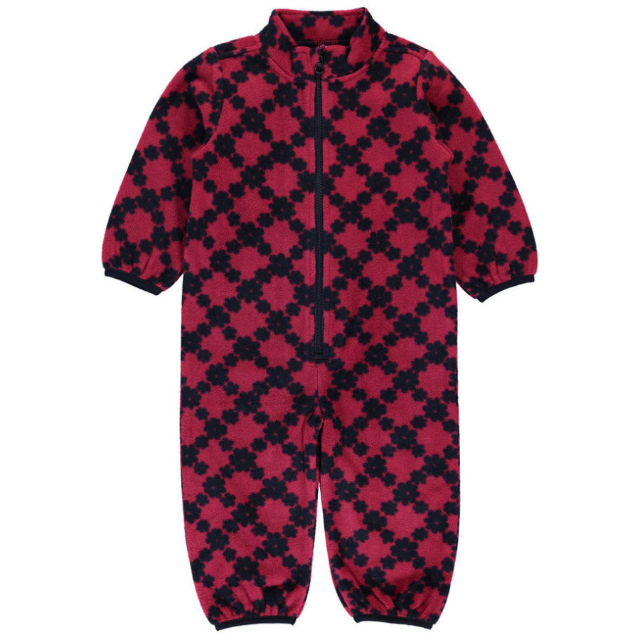 name it Girl s Fleece coverall Spektra sangria