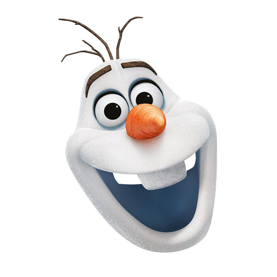 Rubies Karneval Accessories Olaf Frozen Card Mask