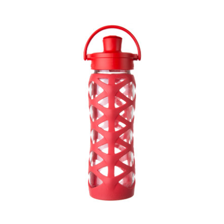 lifefactory Trinkflasche Active Flip Top Cap charged red 650 ml