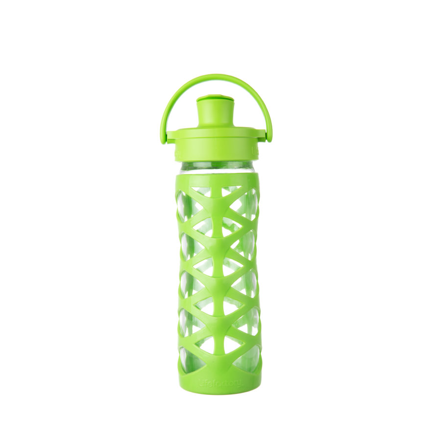 LifeFactory Drikkeflaske Active Flip Top Cap lime 475 ml