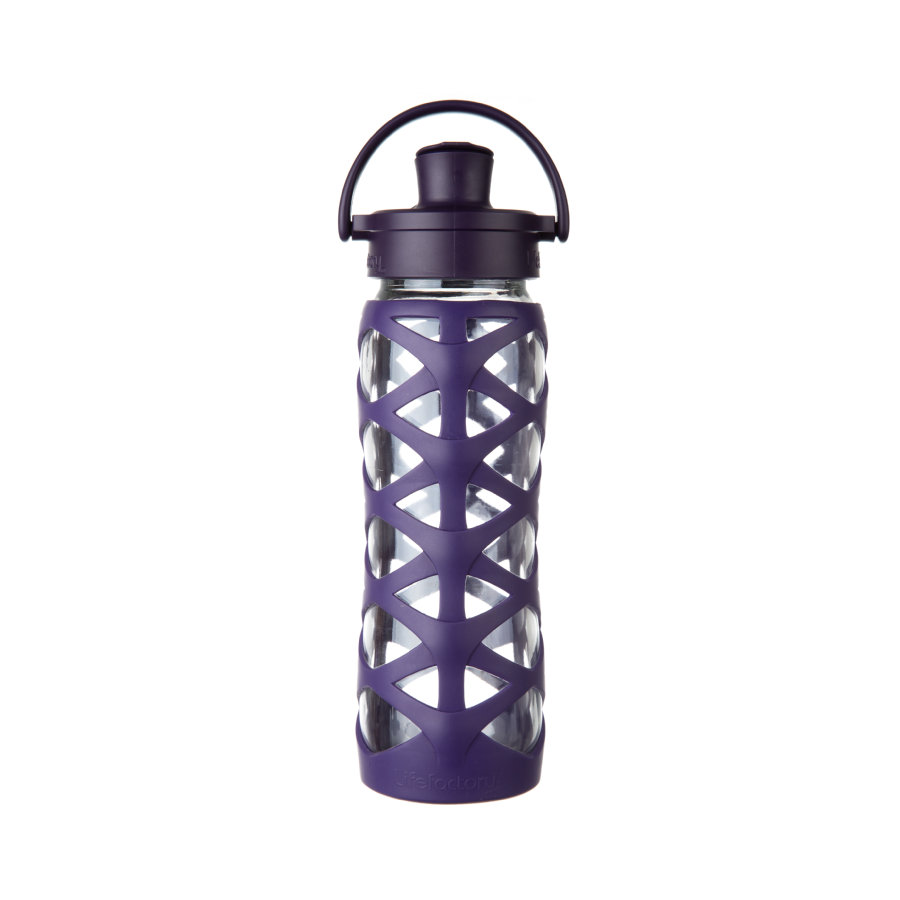 lifefactory Láhev Active Flip Top Cap aubergine 650 ml