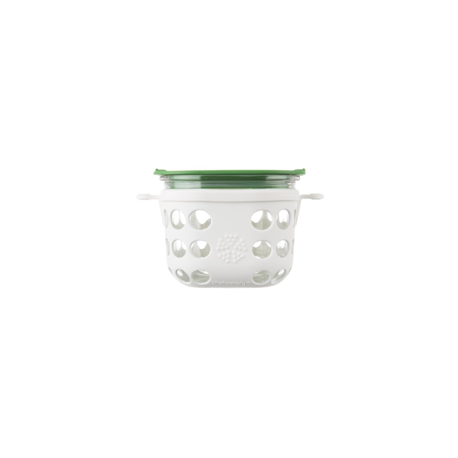 LIFEFACTORY opbevaringsbox optic white / grass green 475 ml
