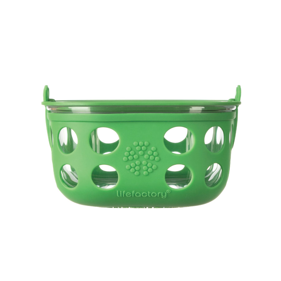 LIFEFACTORY Lasinen eväsrasia 950 ml, Grass Green