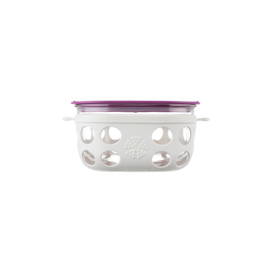 LIFEFACTORY Aufbewahrungsbox optic white / huckleberry 950 ml