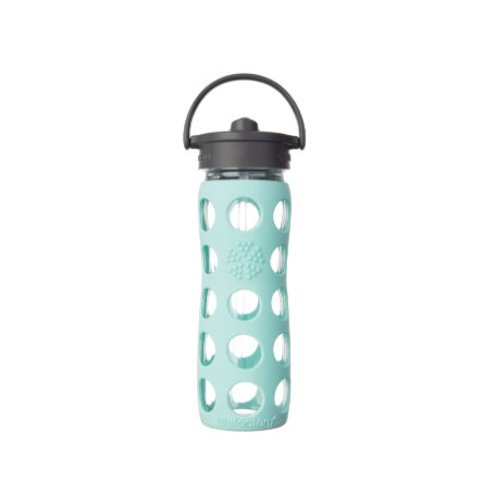 lifefactory Trinkflasche Straw Cap turquoise 475 ml
