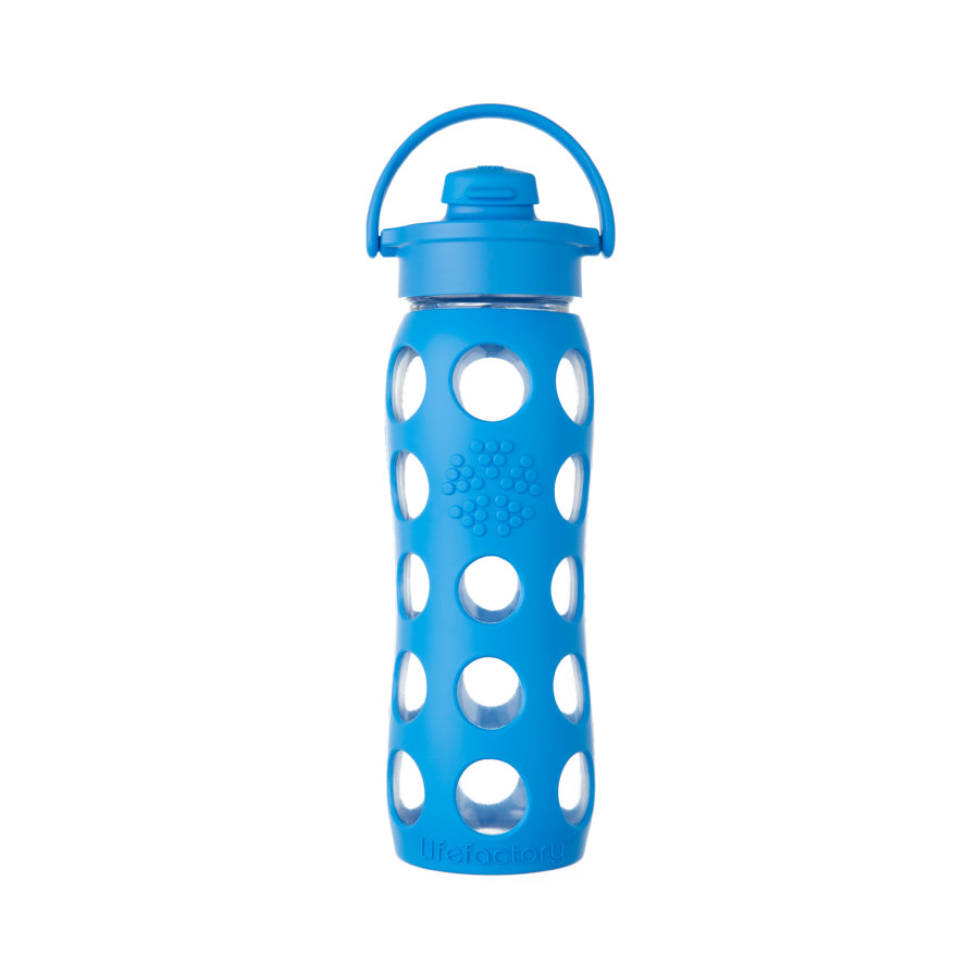 lifefactory Glazen Drinkfles Flip Top Cap Ocean 650 ml