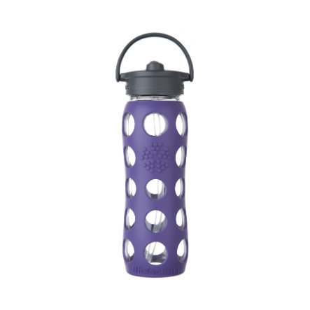 LIFEFACTORY Trinkflasche Straw Cap royal purple 650 ml