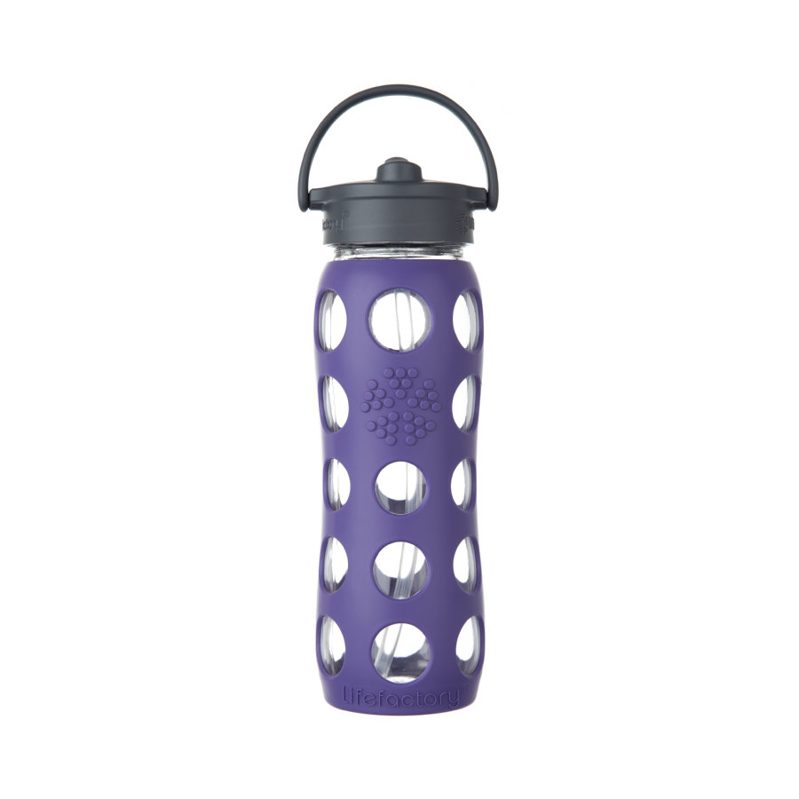 lifefactory Láhev Straw Cap royal purple 650 ml