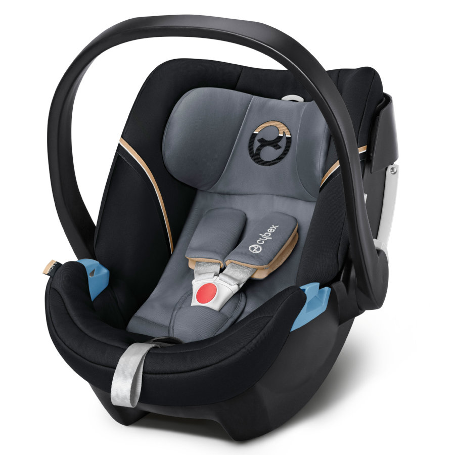 cybex GOLD Babyschale Aton 5 Graphite Black-dark grey