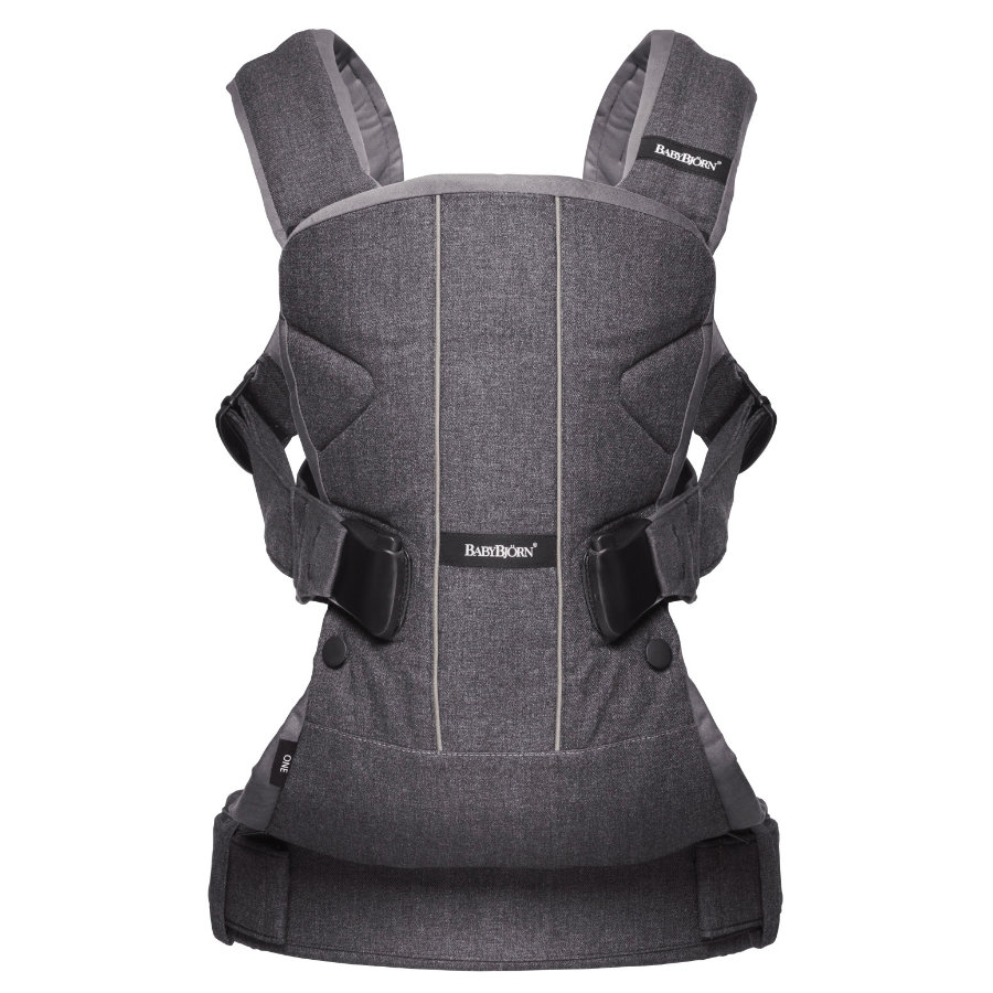 BABYBJÖRN Baby Carrier One Cotton Mix Jeans/Grey
