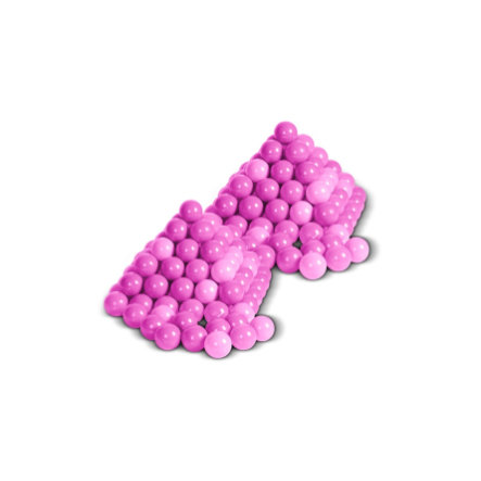 Knorrtoys ballenset - 200 stuks Girl gesorteerd pink/roze