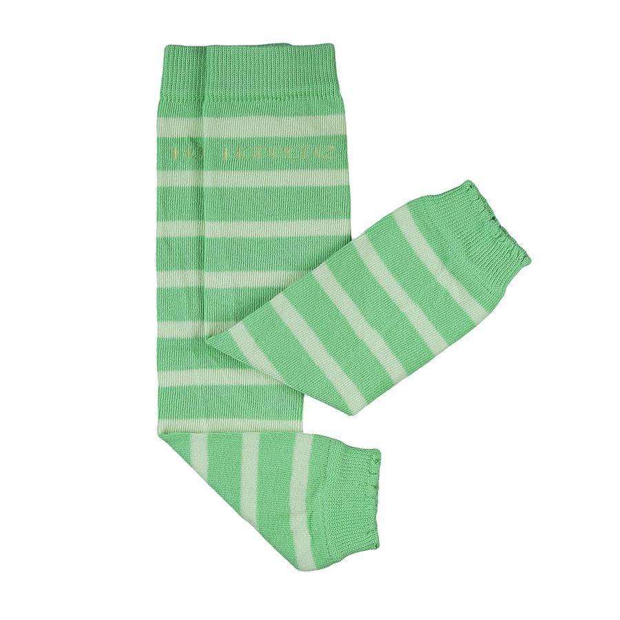 Hoppediz Babystulpen grün mit hellgrünen Streifen