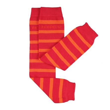 Hoppediz Babystulpen rot mit orangenen Streifen