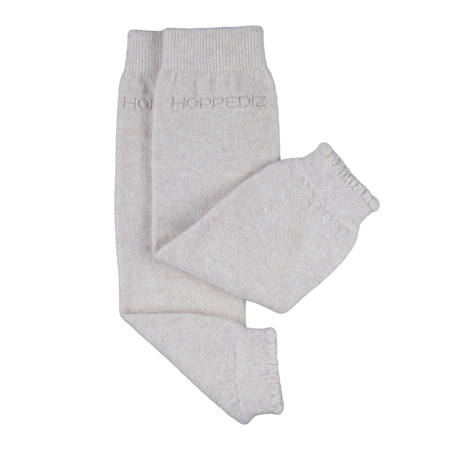 Hoppediz® merino/kashmir baby leggvarmere creme