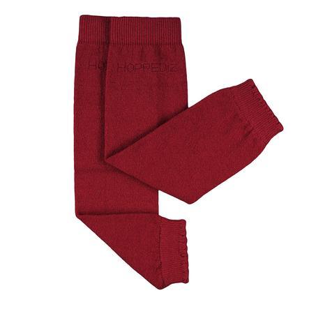 Hoppediz Jambières bébé mérinos/cachemire rouge uni