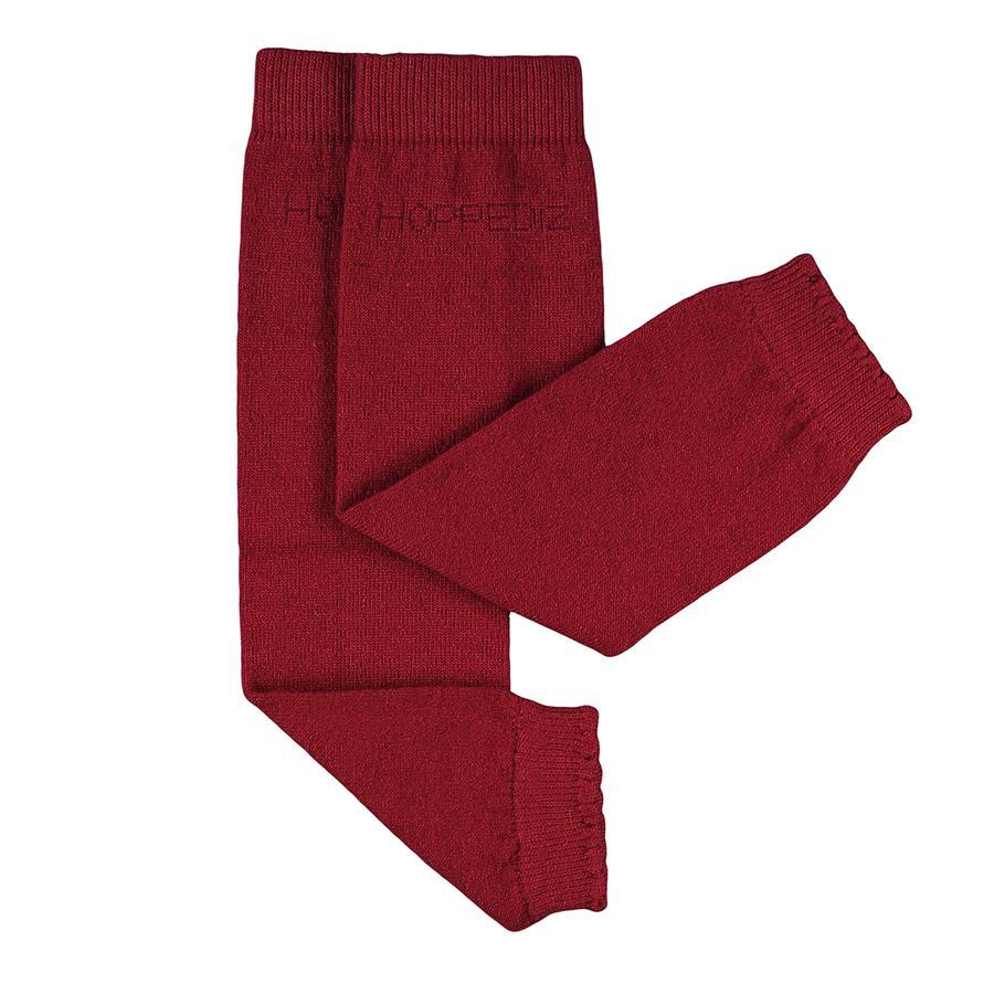 Hoppediz Puños para bebé Merino/Cashmere uni rojo