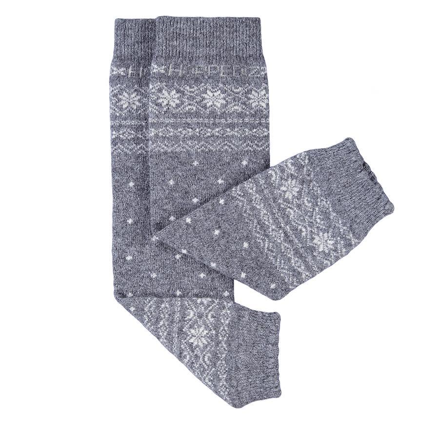 Hoppediz benvarmere merino/kashmir norsk-design grå