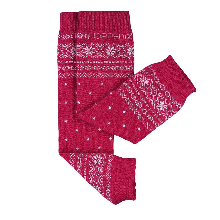 Hoppediz benvarmere merino/kashmir norsk-design rød