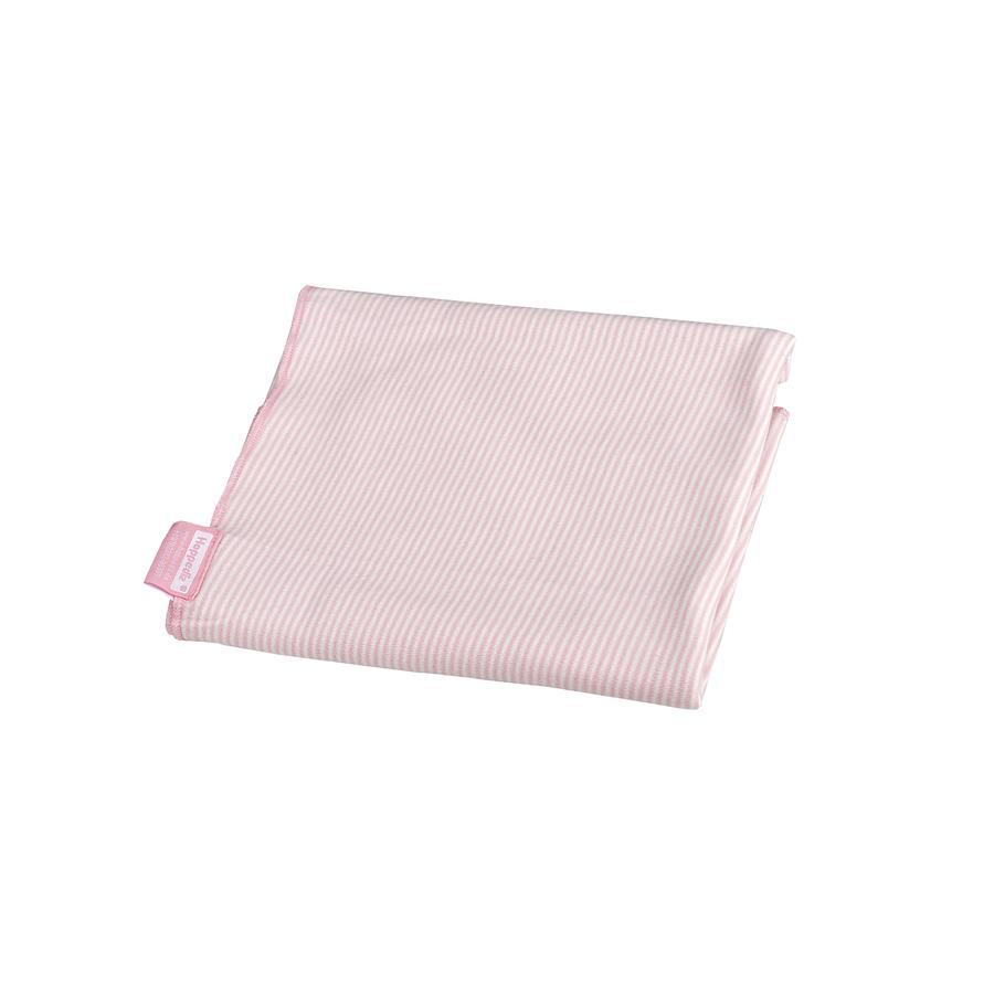 Hoppediz Lange d'emmaillotage bébé rosé/blanc