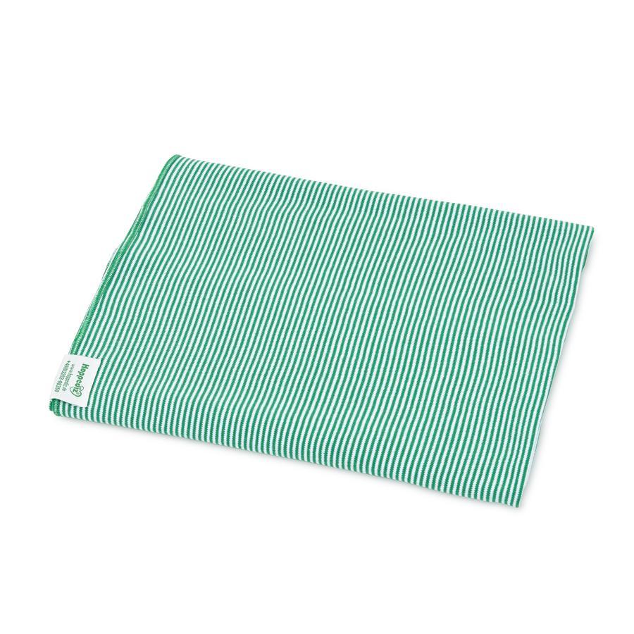 Hoppediz Lange d'emmaillotage bébé vert/blanc