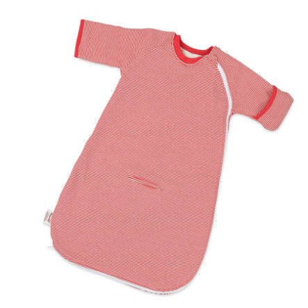 Hoppediz Baby-Schlafsack rot-weiß