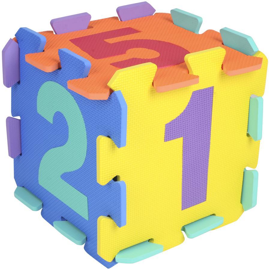 bieco Tapis puzzle chiffres multicolore