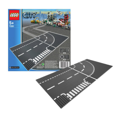 LEGO City - Plaques de route - Intersection et Virage 7281