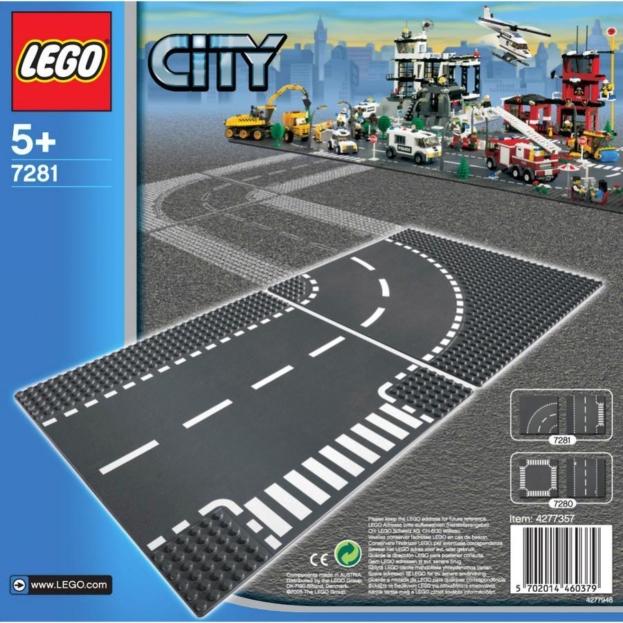 LEGO® City - T-korsning och kurva 7281