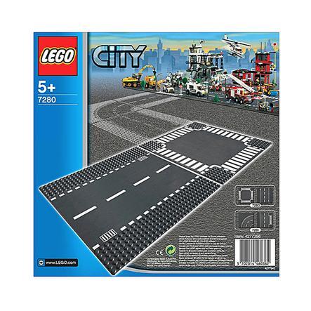 LEGO City - Plaques des routes - Ligne droite et carrefour 7280